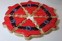 santa cookies, christmas crafts