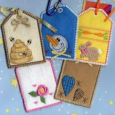 Tags for Machine Embroidery in the hoop from A Design By Lyn