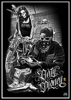 ride or die dga tees arte skull Chicano Tattoos, Skull Tattoos, Body Art Tattoos, Arte Cholo, Cholo Art, Motorcycle Art, Bike Art, Dark Fantasy Art, Dark Art