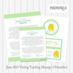 $2.65, June 2015 LDS Visiting Teaching Message by periwinkleinc on Etsy