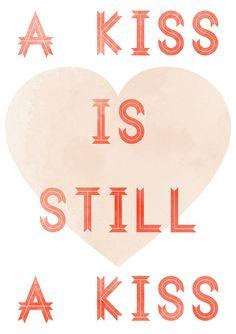 Kiss print by vaporqualquer on Etsy, $15.00