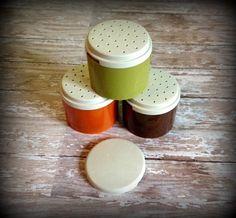 Vintage Tupperware Spice Shakers Retro by SalliesVintageFinds