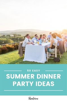 When you're in the mood to entertain but don't feel like cooking for hours, try one of these summer dinner party ideas that taste spectacular. #summer #dinnerparty #partyideas Best Dinner Party Recipes, Backyard Birthday Parties, Easy Summer Dinners, Entertaining, Mood, Feelings, Funny