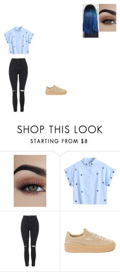 """Untitled #808"" by melissaperez427 on Polyvore featuring Topshop and Puma"