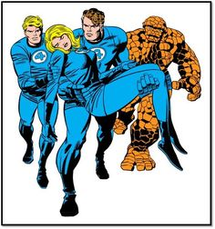 The Fantastic Four by 'Jack Kirby' Marvel E Dc, Marvel Comic Universe, Marvel Heroes, Marvel Avengers, Fantastic Four Comics, Mister Fantastic, Comic Book Characters, Comic Books Art, Book Art