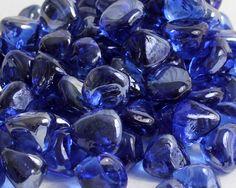 Midnight Blue Luster Zircon Fireglass
