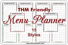 THM FRIENDLY MENU PLANNER PAGES - After I posted the free editable menu planner, someone commented that it would be nice to have one that was more Trim Healthy Mama friendly -- A menu planner that had columns for snacks as well as the main meals. Trim Healthy Mama Plan, Trim Healthy Recipes, Thm Recipes, Budget Recipes, Planning Menu, Planning Budget, Diet Menu, Thm Diet, Gift Boxes