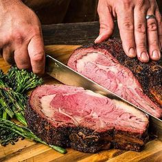 Slow Smoked and Roasted Prime Rib Recipe Traeger Recipes, Rib Recipes, Grilling Recipes, Grilling Ideas, Bbq Ideas, Barbecue Recipes, Steak Recipes, Family Recipes, Party Ideas