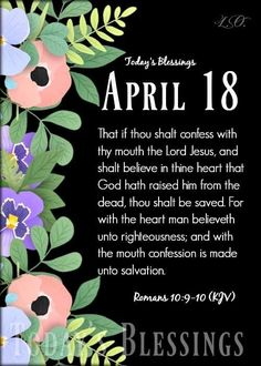 The Heart Of Man, Righteousness, Confessions, Believe, Blessed, Lord, Day