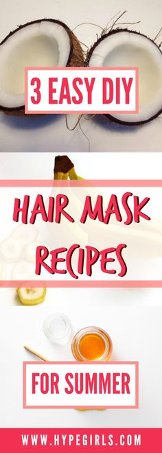 Try these amazing DIY hair masks to keep your hair strong, soft and looking good all season long! Hair Mask For Damaged Hair, Dry Damaged Hair, Diy Hair Mask, Hair Masks, Frizzy Hair, Diy Mask, Dry Hair, Softer Hair, Hair Shop