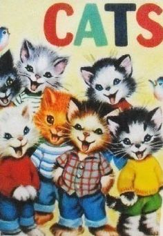 EF Friendlies.  Cheerful and mouth always open. (talktalktalktalktalk)  :D SEVEN WONDERFUL CATS