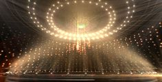 Golden Revolving Light Stage