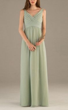 2016 Simple Dusty Green Bridesmaid Dress