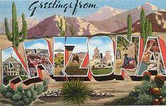 Historic U. S. Highway 70 Through Arizona on Vintage Postcards