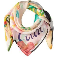 Echo Design Mapa De Cuba Silk Square Scarf (White) ($53) ❤ liked on Polyvore featuring accessories, scarves, patterned scarves, white shawl, silk scarves, square scarves and pure silk scarves