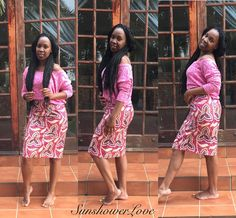 Ankara Pencil Skirt...#SunshowerLove