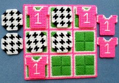 Plastic Canvas Ornaments, Plastic Canvas Crafts, Plastic Canvas Patterns, Decorative Bird Houses, 4 Ply Yarn, Cotton Polyester Fabric, Tic Tac Toe Game, Crochet Barbie Clothes, Sport Craft