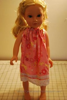 Would be cute to make a Doll Pillow Case Dress to match little girl's pillow case dress.