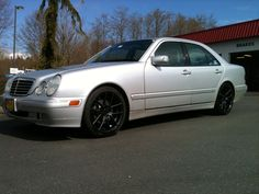 """2001 Mercedes E320 18"""" Niche 130's Rims :: East Bremerton Les Schwab 2013 Wheels :: (360) 307-0999  At Les Schwab, our custom wheels come with our Best Custom Wheel Value Promise. It includes many free services and warranty features that make our wheels a tremendous value. We invite you to look at our new custom wheels and see our outstanding new lineup for 2013. You will love how they can change the appearance of your ride."""