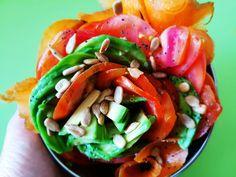 Ensalada de tomate y aguacate #ponunaensalada2016 Caprese Salad, Food, Vitamins, Avocado Tomato Salad, Essen, Meals, Yemek, Insalata Caprese, Eten