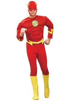 Deluxe Adult Flash costume #Halloween #BigBangTheory