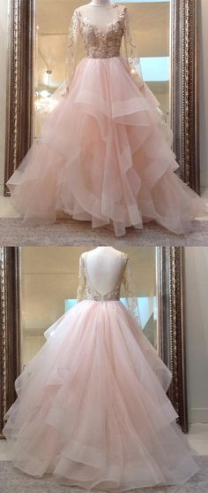 Prom Dress Princess, Unique pink tulle lace long prom dress, pink evening dress Shop ball gown prom dresses and gowns and become a princess on prom night. prom ball gowns in every size, from juniors to plus size. Elegant Bridesmaid Dresses, Prom Dresses Long With Sleeves, Unique Prom Dresses, Pink Prom Dresses, Sweet 16 Dresses, Tulle Prom Dress, Tulle Lace, Cheap Dresses, Pretty Dresses