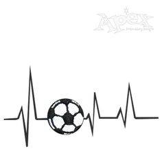 "Sports Love Heart Soccer Embroidery Design. You get Five Designs Size 4"" x 2"""