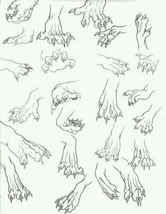 Draw hand paws