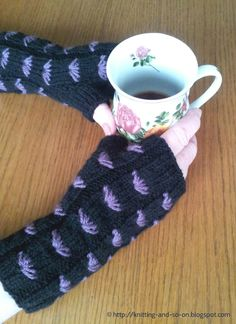 Knitting and so on: Margarete Fingerless Gloves  I need to learn how to read knitting and crochet patterns...