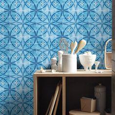 Tile Decals - Tile Stickers - Vintage Blue - Kitchen Tiles - Backsplash Tile - Backsplash Decal - Bathroom Tile - PACK OF 6 - SKU:VinBlT