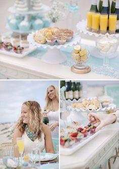 A turquoise, seaside mini-brunch bridal shower with Martha Celebrations! #SomethingTurquoise #LetsCelebrate (photo by: http://studioelevenweddings.com/)