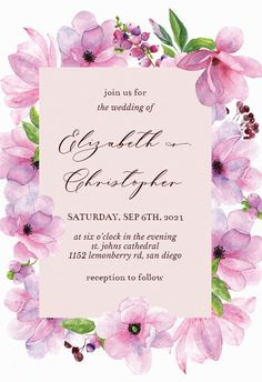 Pink Gold Flowers - Wedding Invitation #invitations #printable #diy #template #wedding Gold Flowers, Wedding Flowers, Free Wedding Invitations, Pink And Gold Wedding, Response Cards, Create Yourself, Reception, Printable, Island