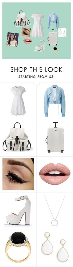 """To the Weasley's we go"" by balalalallalalalaalla ❤ liked on Polyvore featuring Balmain, Steve Madden, Rimowa, Nevermind, Roberto Coin and Trina Turk"