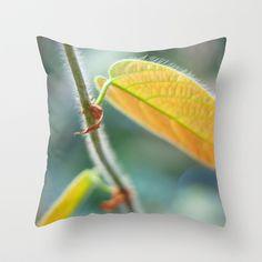 Autumn Yellow Throw Pillow by Miss York - $20.00