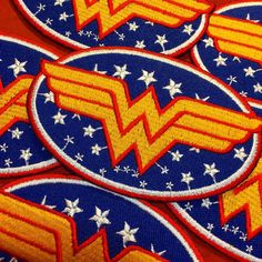 3pcs Classic/Retro/Vintage Wonder Woman Logo Patch by tradindo