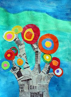 Kandinsky trees from a good children's art blog