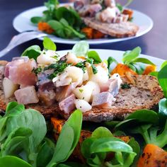 Tartare hareng-poire en salade hivernale Fish And Seafood, Salmon Burgers, Starters, Entrees, Chips, Appetizers, Healthy Recipes, Chicken, Ethnic Recipes