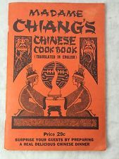 MADAME CHIANG'S CHINESE Cookbook, Recipe Book Vintage 1941