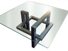 Dining glass table Ios Collection by Gonzalo De Salas