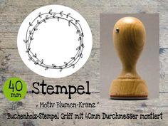Blumenkranz Stempel  von Webermann Aufkleber und Stempel  auf DaWanda.com