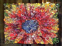 Button quilt at the