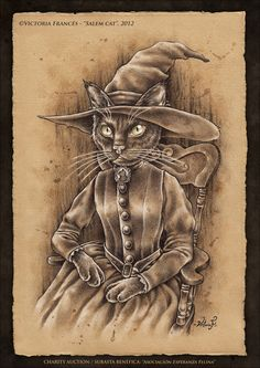 Salem Cat by Victoria Frances