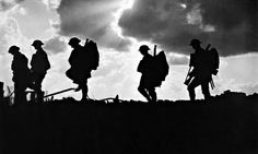 British soldiers moving towards the frontline during the Battle of Broodseinde. Third Battle of Ypres, October Photo by Ernest Brooks World War One, First World, Battle Of Passchendaele, Battle Of Ypres, Soldier Silhouette, Cross Silhouette, Silhouette Vector, Otto Von Bismarck, Ww1 Art