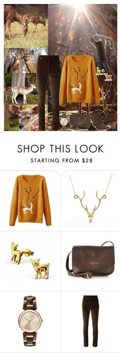"""""""Deer In The Forest"""" by horcal ❤ liked on Polyvore featuring Lee Renee, The Bridge, Michael Kors and Isabel Marant"""