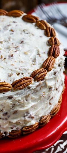 Italian Cream Cake- an old southern favorite with lots of coconut and pecans. #desserts #southern #coconut #cake