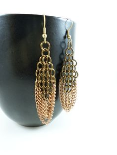 Chainmaille Chain Earrings
