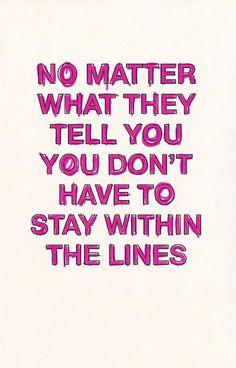 lines are arbitrary