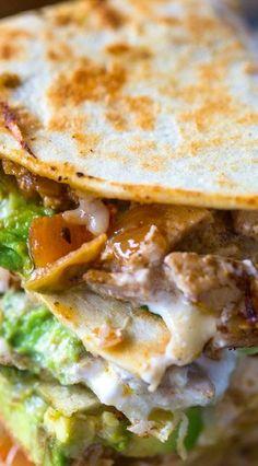 Chicken Avocado Quesadillas