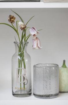 CHRISTINE vase, MIRAH tealight and FLORA decoration flower. Lene Bjerre, spring 2014.