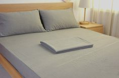 The classic color for bed sheets - Medium Grey.